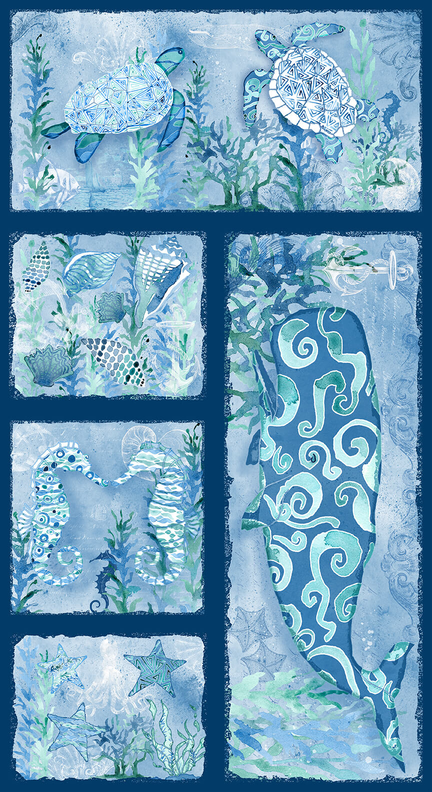 Sea Glass Panel